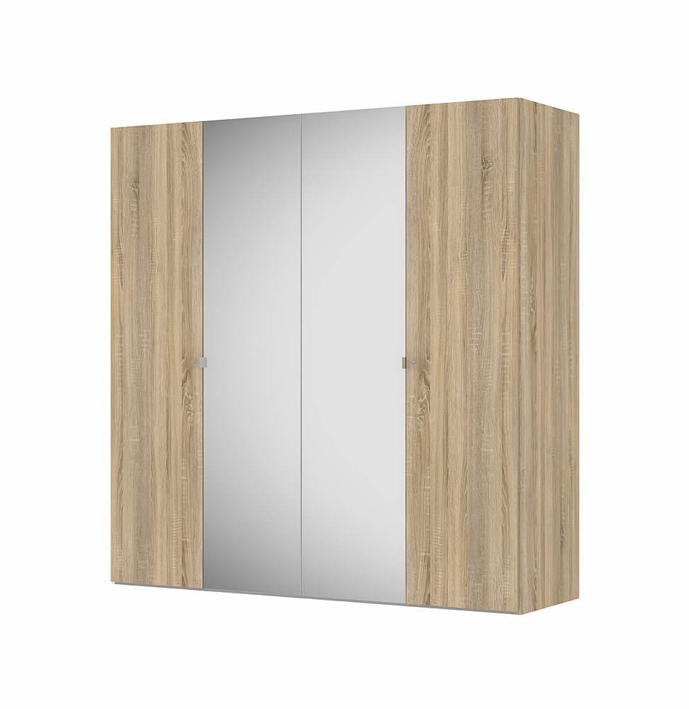 Billede af Save garderobeskab (200 cm) i eg struktur med spejl
