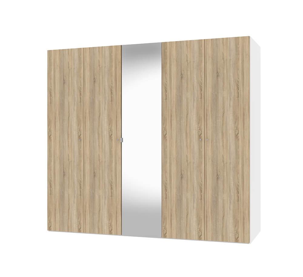 Billede af Save Hvid og Eg struktur Garderobeskab med spejl