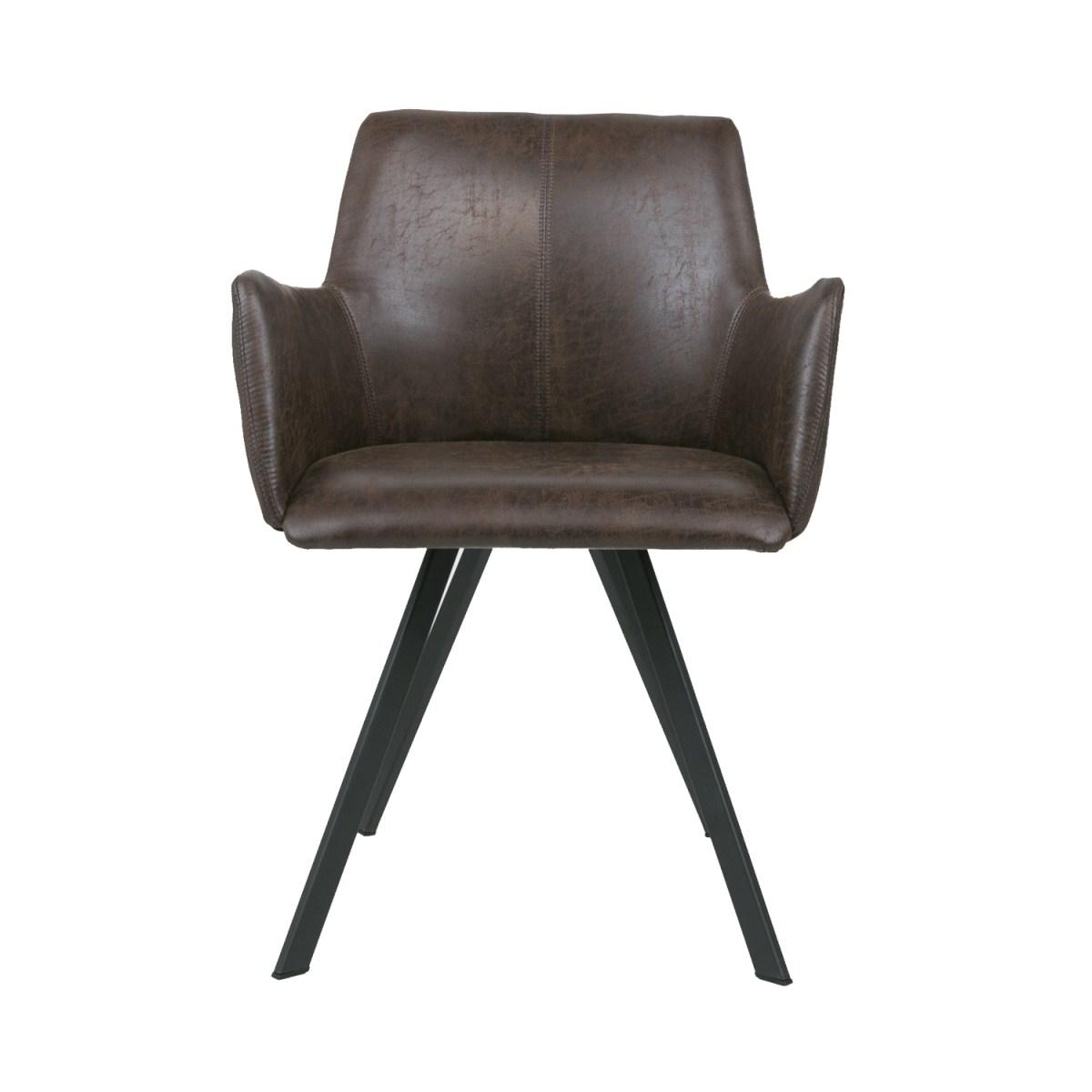Billede af CANETT Amigo spisebordsstol m. armlæn - Mørkebrun
