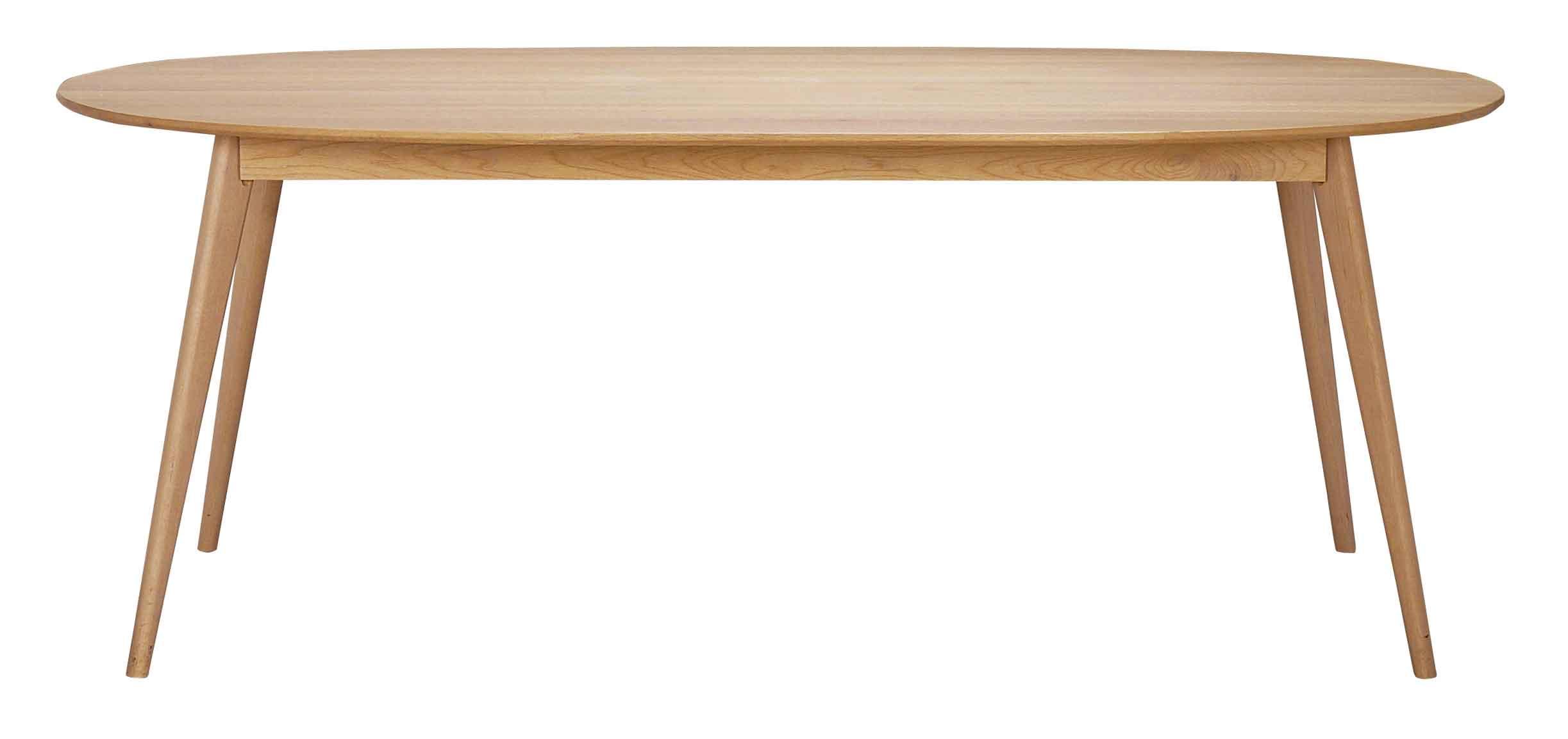 Yumi spisebord - Lakeret egetræ, ovalt