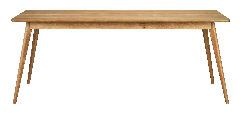 Yumi spisebord - Lakeret egetræ, 190x90