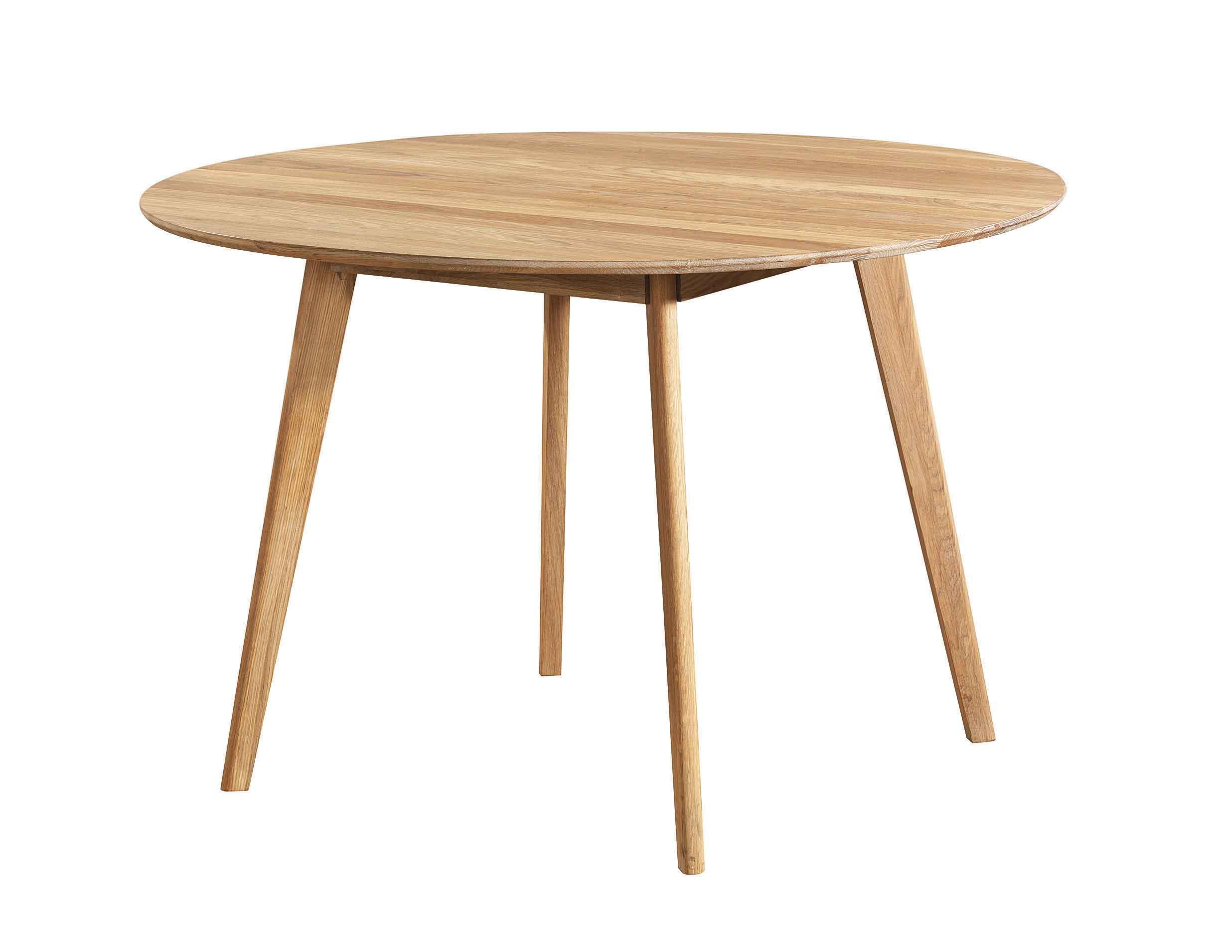 Yumi spisebord - Lakeret egetræ, rundt (Ø:115)
