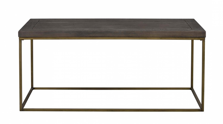 Dalton sofabord - brunt træ/antik stel, rektangulær