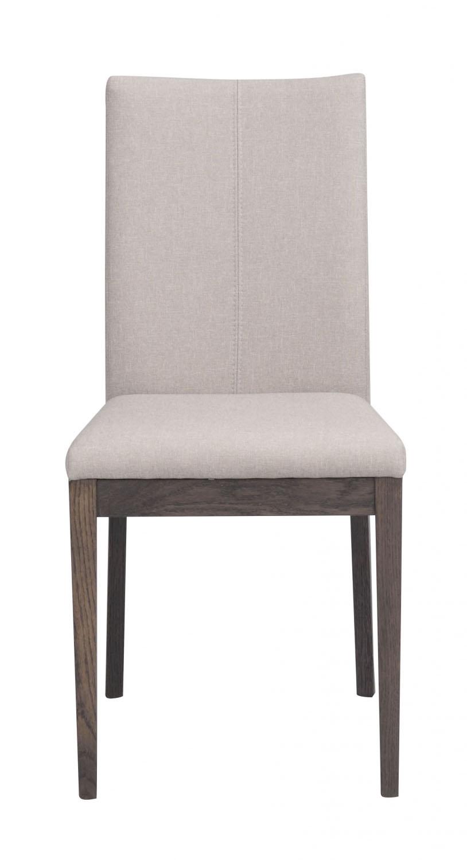 Image of   Amanda spisebordsstol - beige stof m. mørkebrune træben