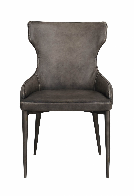 Image of   Ambrose spisebordsstol - grå PU læder m. metalben