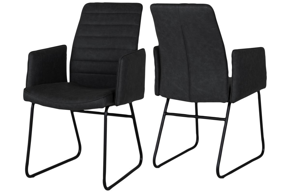 canett Canett cotta spisebordsstol m. armlæn - sort på boboonline.dk