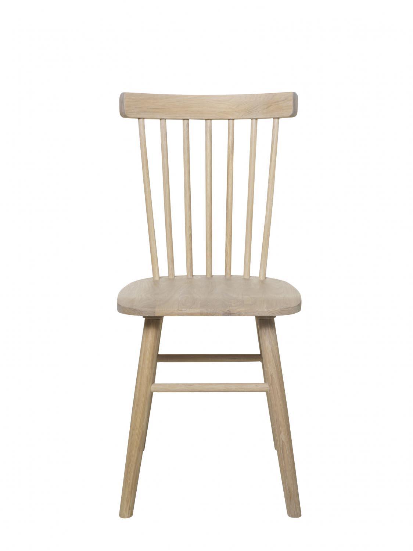 Disco spisebordsstol - hvidpigmenteret egetræ