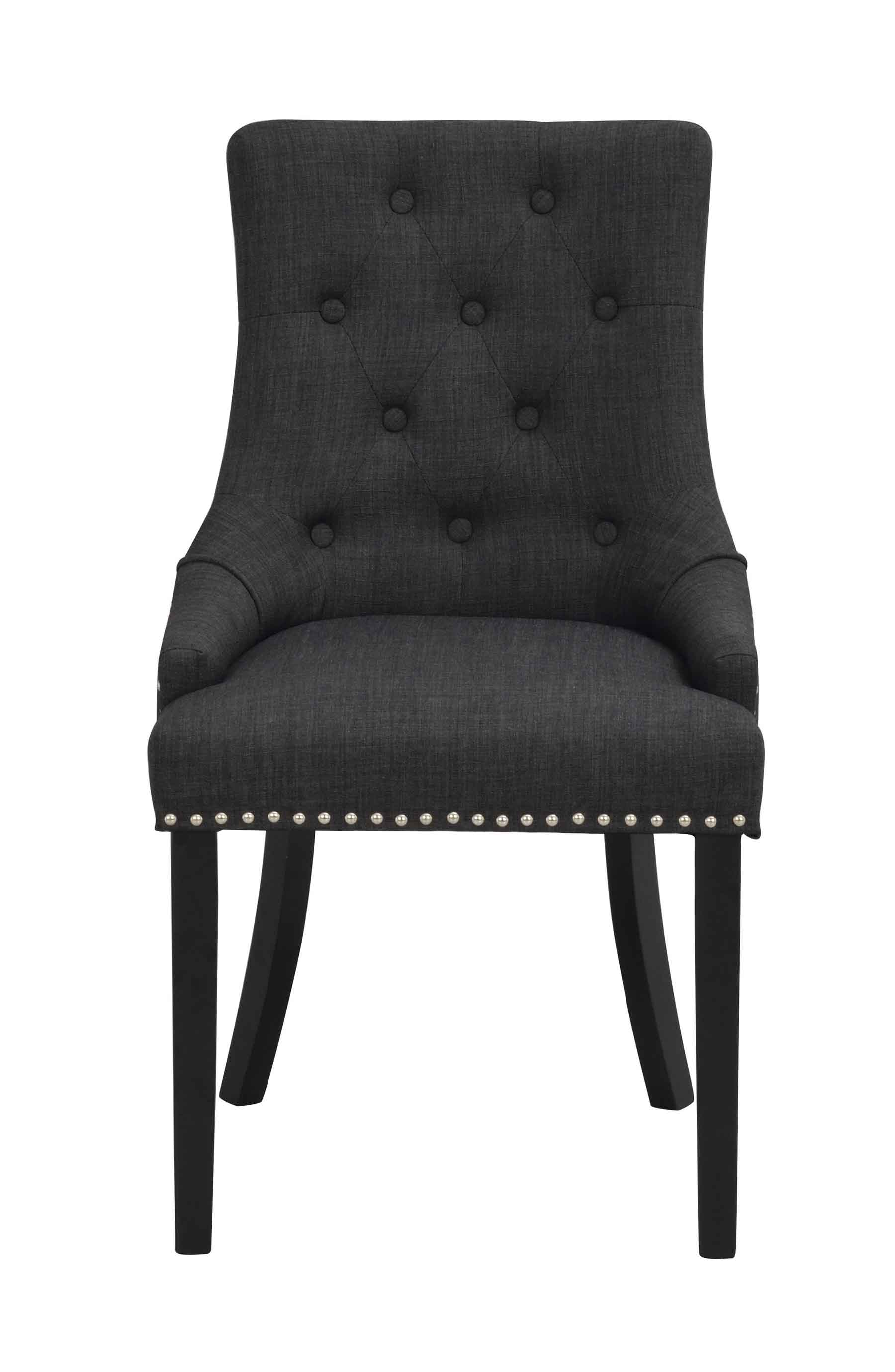 ROWICO Vicky spisebordsstol - antracitgråt stof/sorte træben