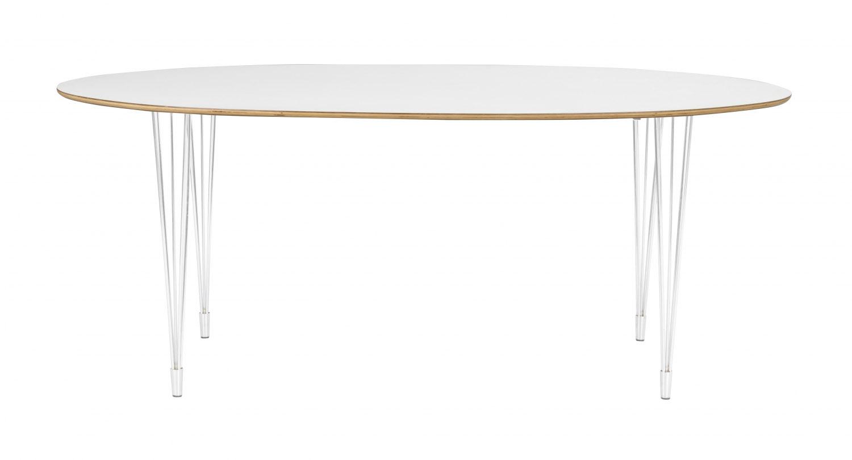 ROWICO Fusion spisebord - hvid laminat, oval (190x100)