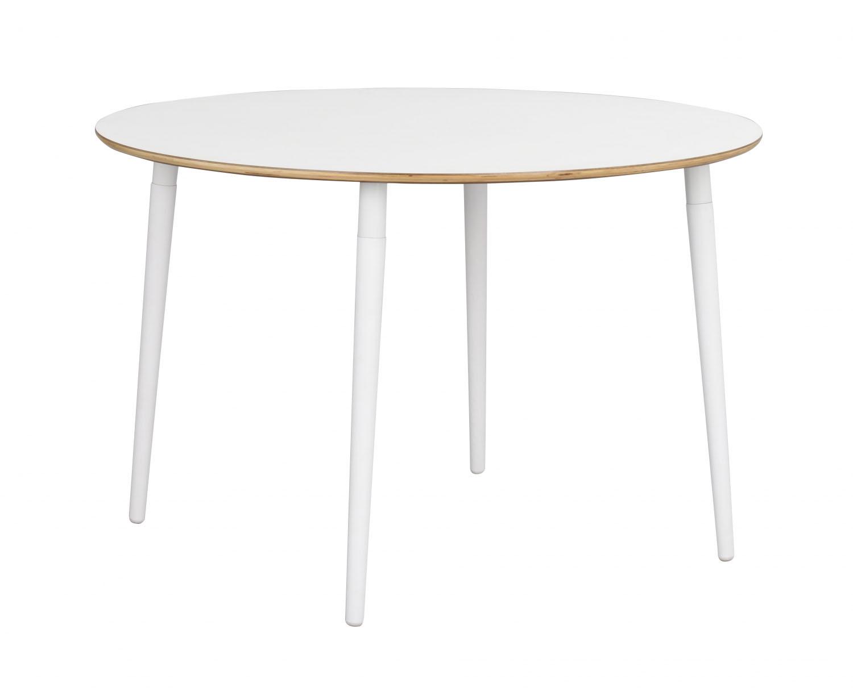 Fusion spisebord - hvid laminat/bøg, rund (Ø115)