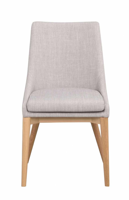 Image of   Bea spisebordsstol - lysegråt stof/eg