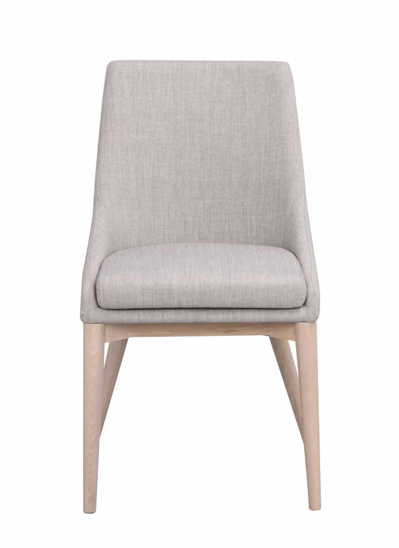 Image of   Bea spisebordsstol - lysegråt stof/hvidpigmenteret eg