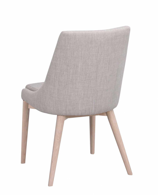 ROWICO Bea spisebordsstol lysegråt stofhvidpigmenteret eg