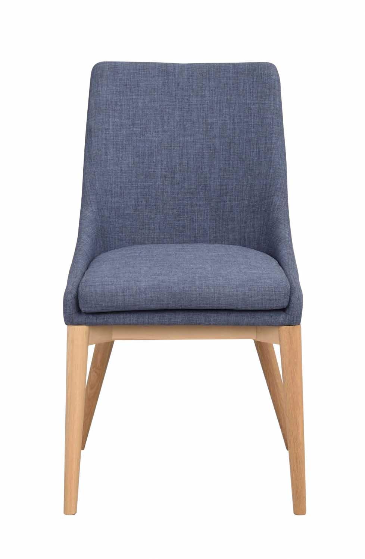 Image of   Bea spisebordsstol - blåt stof/eg