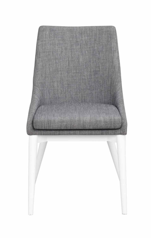 Image of   Bea spisebordsstol - mørkegråt stof/hvidt træ