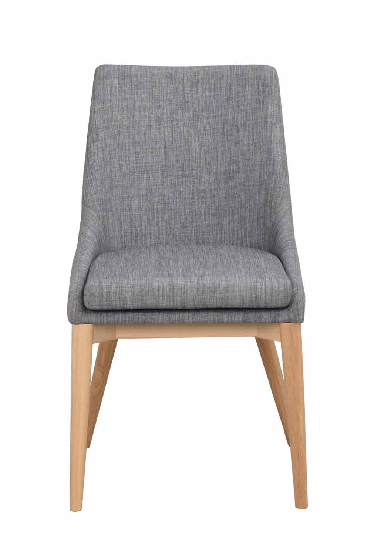 Image of   Bea spisebordsstol - mørkegråt stof/eg