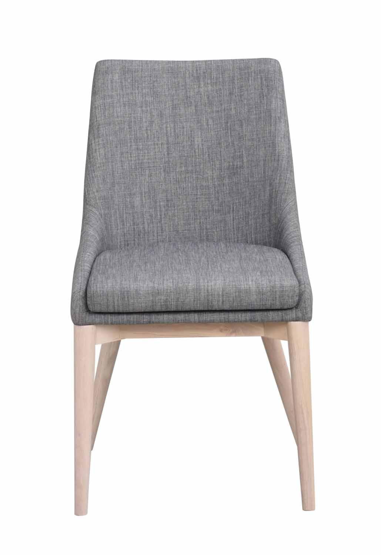 Image of   Bea spisebordsstol - mørkegråt stof/hvidpigmenteret eg