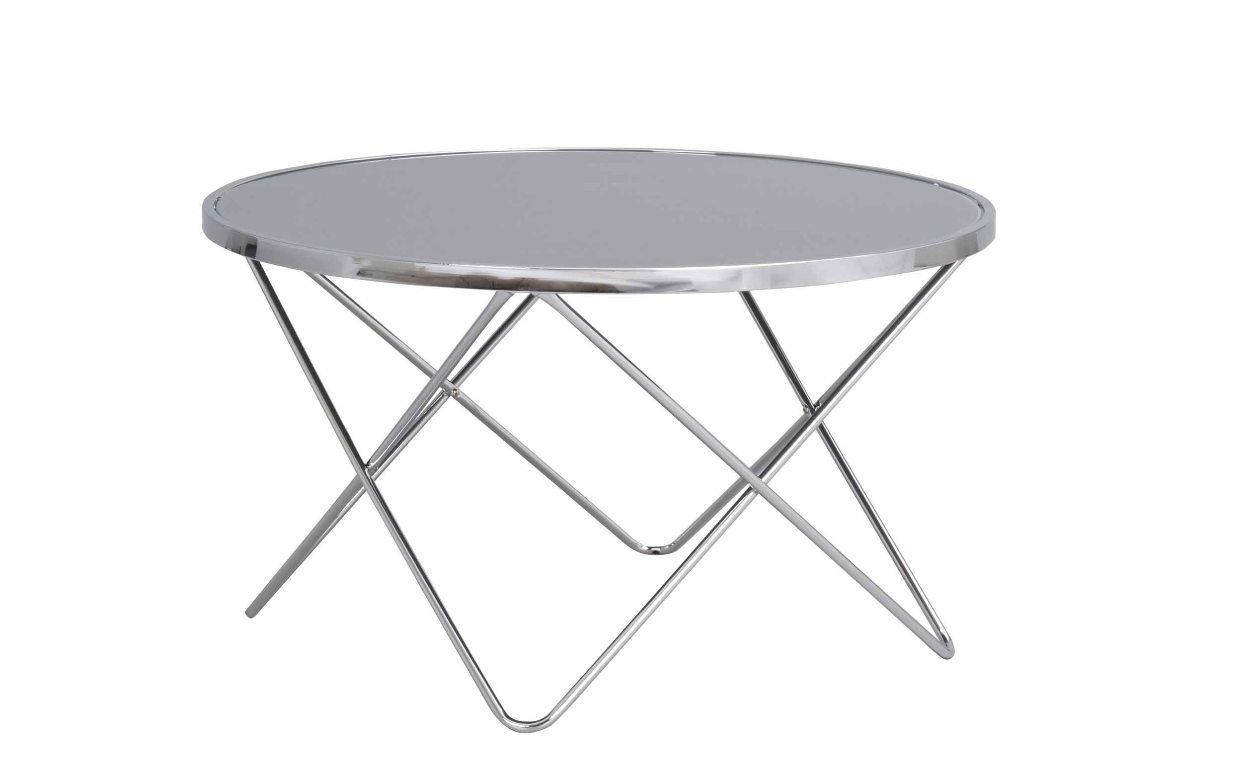 Stoke sofabord - Krom metal, rundt (Ø:85)