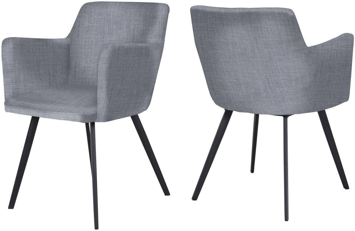 canett – Canett conca spisebordsstol m. armlæn - lysegrå på boboonline.dk