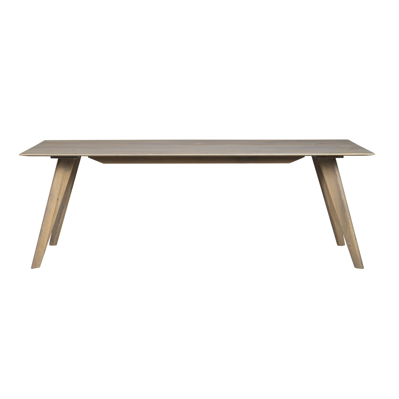 ROWICO rektangulær Franklin spisebord m. udtræk - grå eg (220x100)