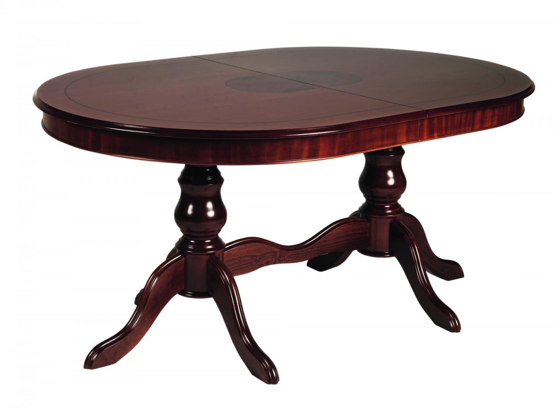Image of   Amadeus spisebord - valnød, oval incl. 2 tillægsplader (160x110)