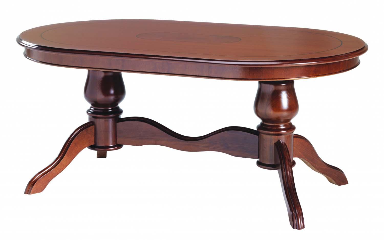 Amadeus sofabord - valnød, oval (130x80)
