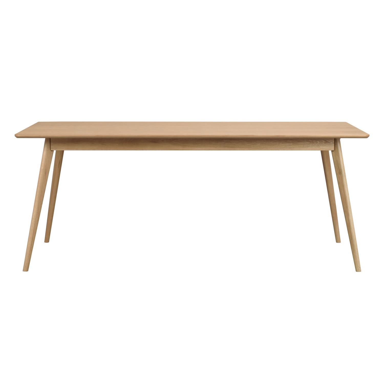 ROWICO rektangulær Yumi spisebord m. udtræk - natur egetræsfiner og eg (190x90)