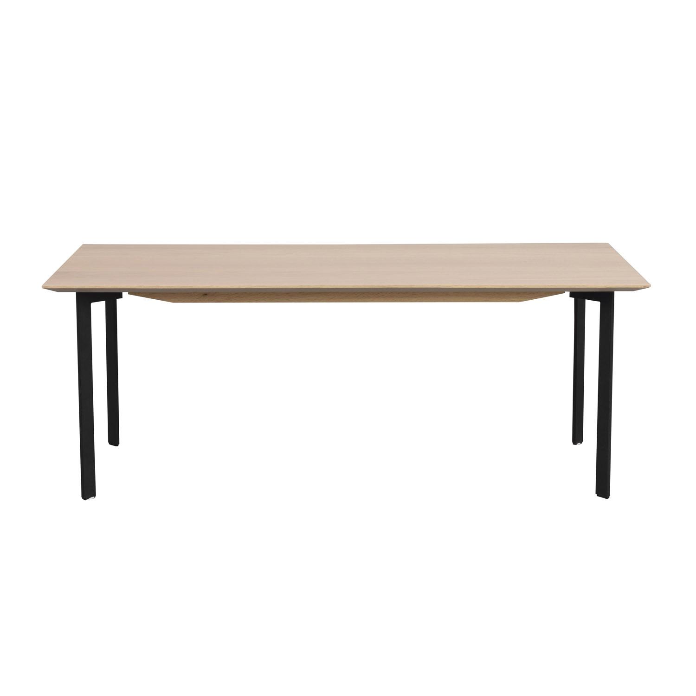 Rowico Rowico Rektangulær Spencer Sofabord - Hvidvasket Eg Og Sort Metal (120X60) Dagligstue