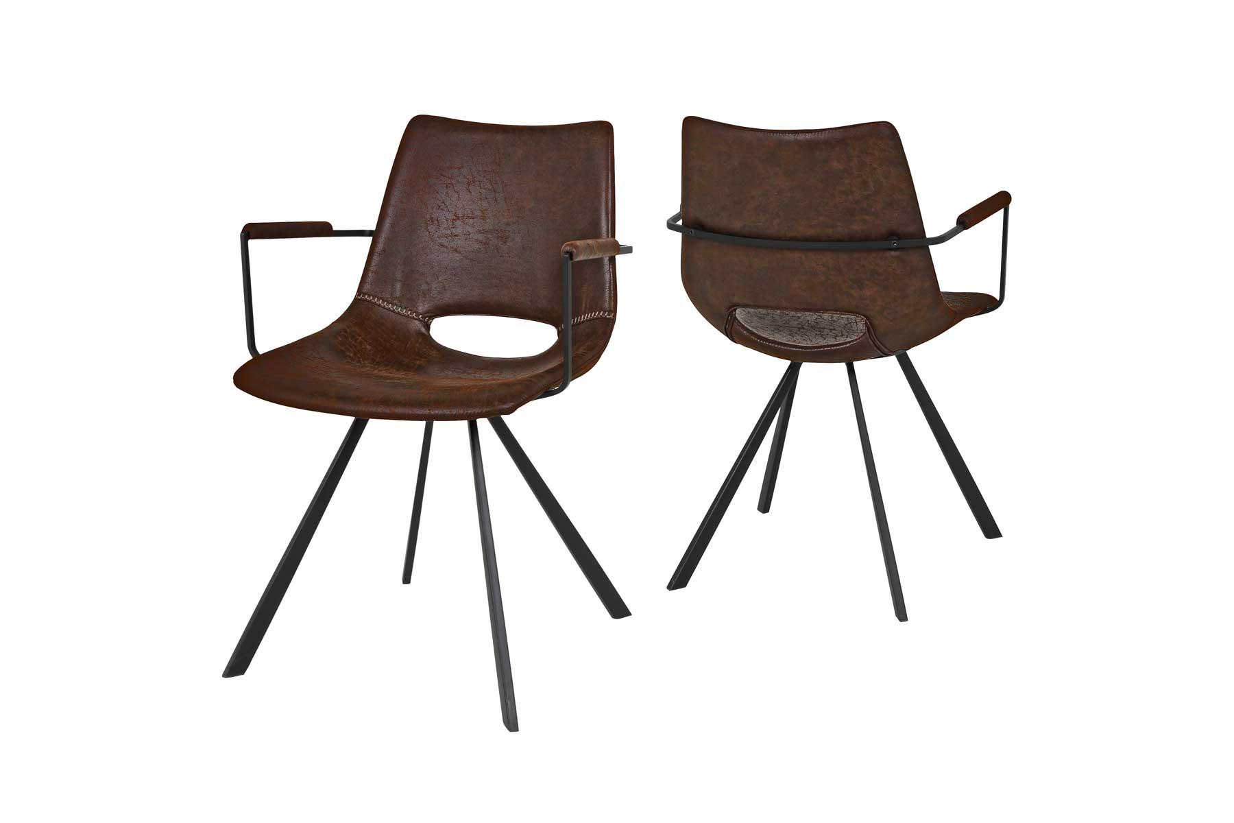 Coronas stol med armlæn fra canett fra boboonline.dk