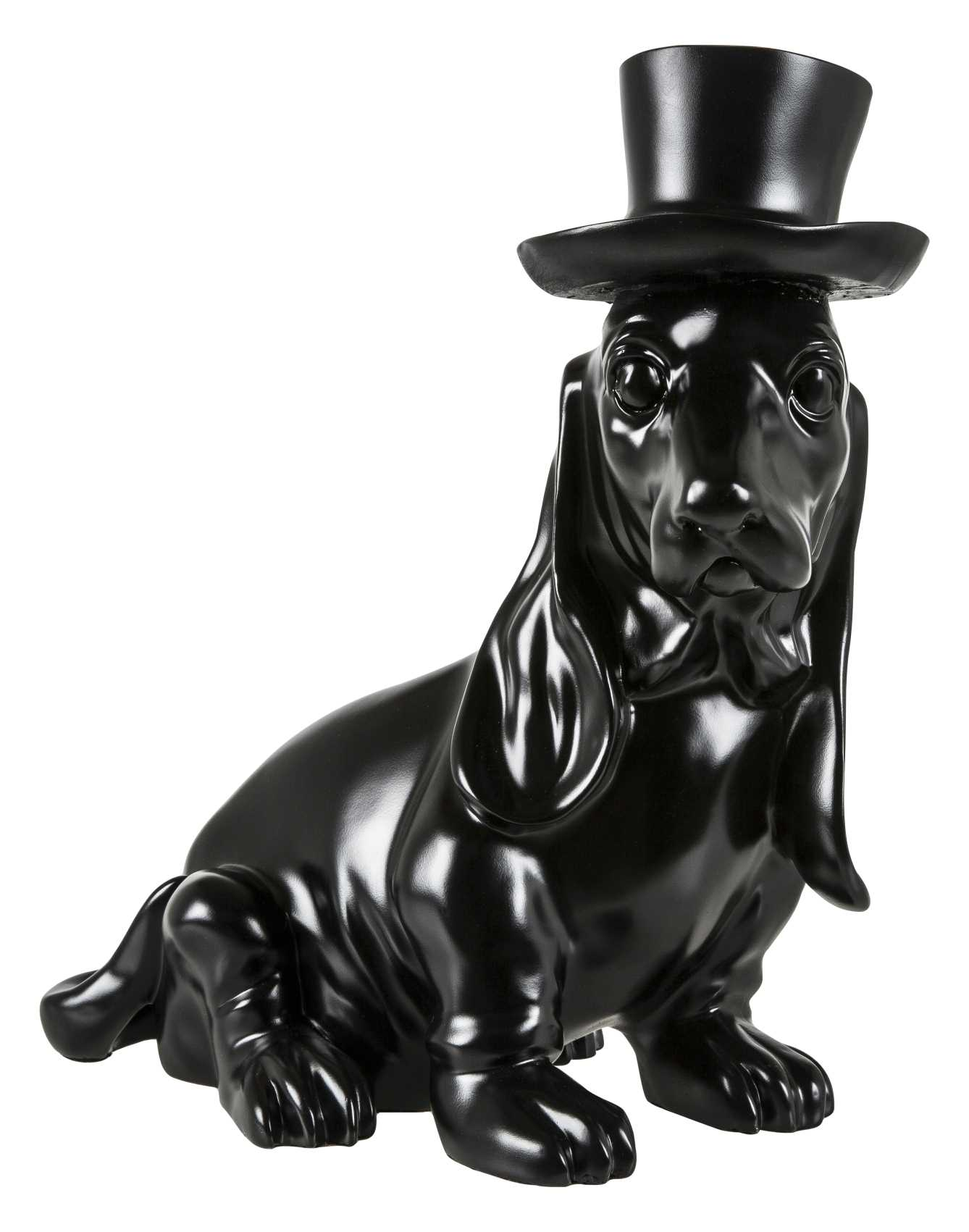 Image of   Crazy Zoo skulptur - Sort gravhund
