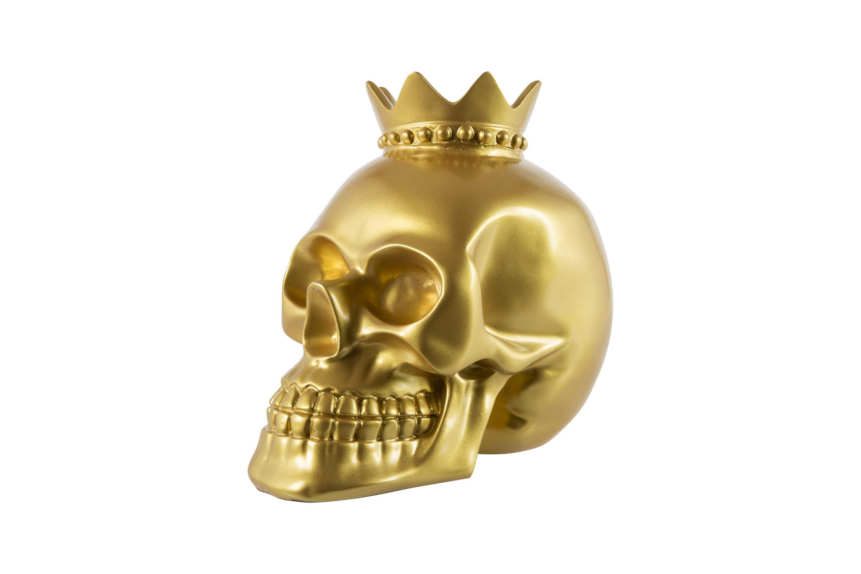 Billede af Crazy Zoo skulptur - Guld kranie