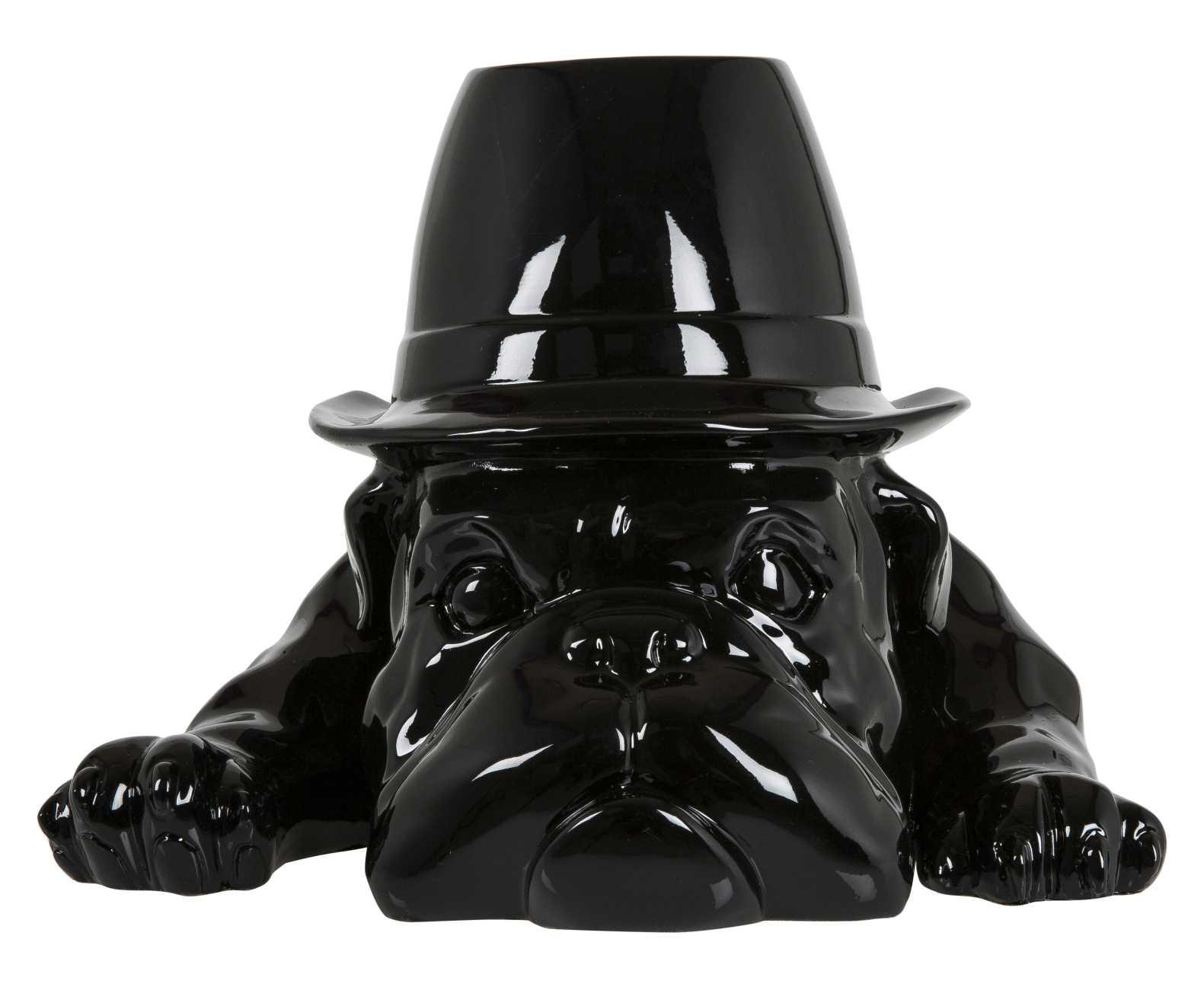 Billede af Crazy Zoo skulptur - Sort bulldog