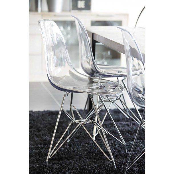 Crystal stol i transparent plastik