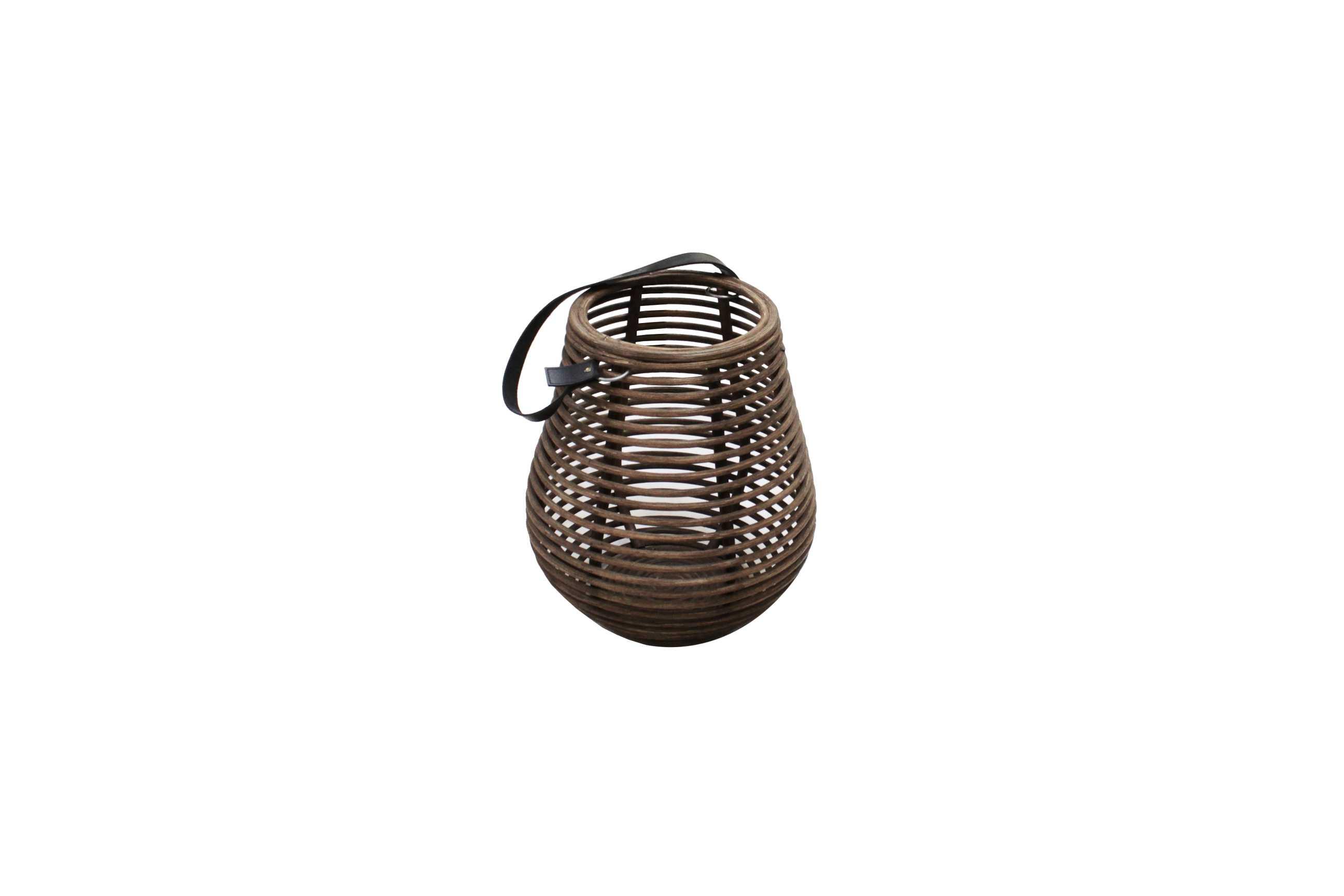 Curve lanterne i mørkebrun (33 cm)