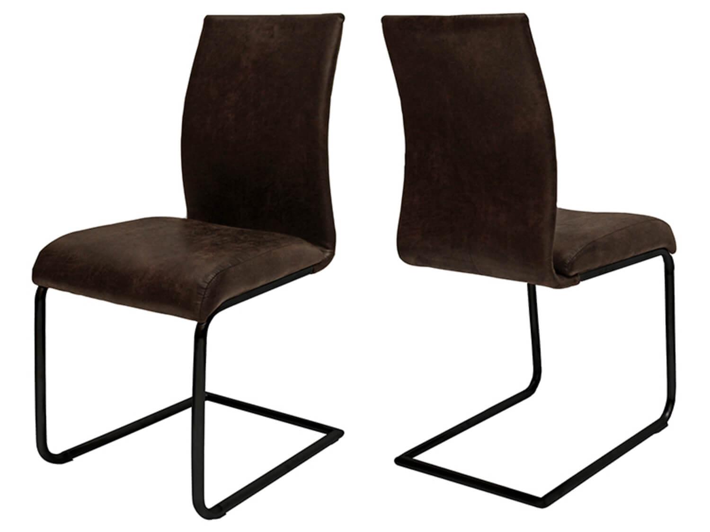 canett – Canett clipper spisebordsstol - mørkebrun stof m. sorte jernben fra boboonline.dk