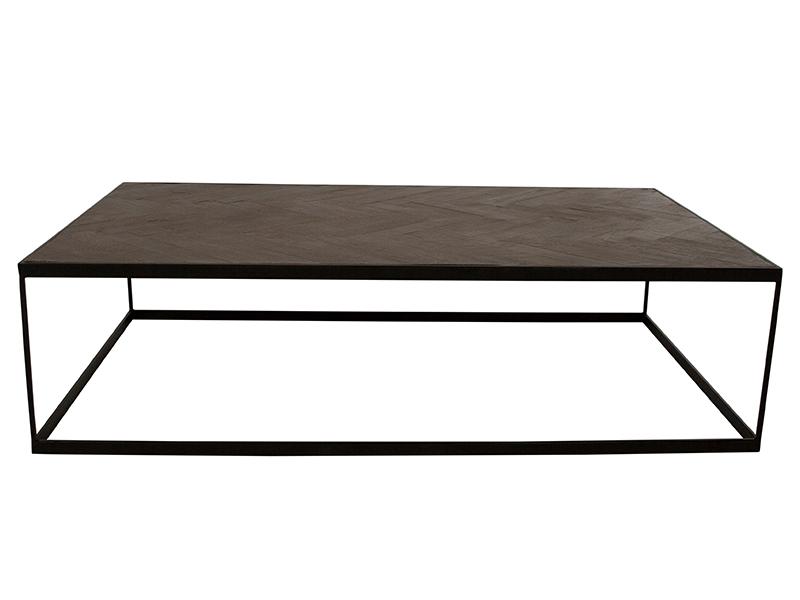Canett damo sofabord - massiv genbrugstræ m. sorte jernben (150x90) fra canett fra boboonline.dk