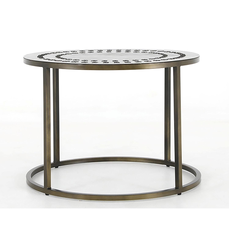 Canett dawson rund sofabord - messing jern fra canett fra boboonline.dk