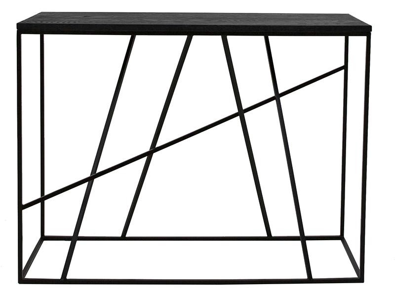 canett Canett coster konsolbord - sort egetræ og sort jern (100x35) på boboonline.dk