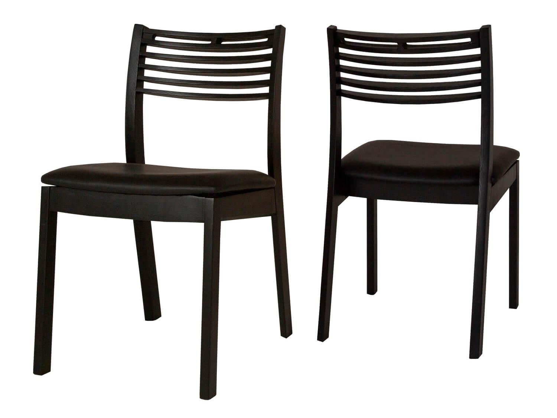 canett – Canett zenzi spisebordsstol - sort egetræ m. hynde i sort kunstlæder fra boboonline.dk