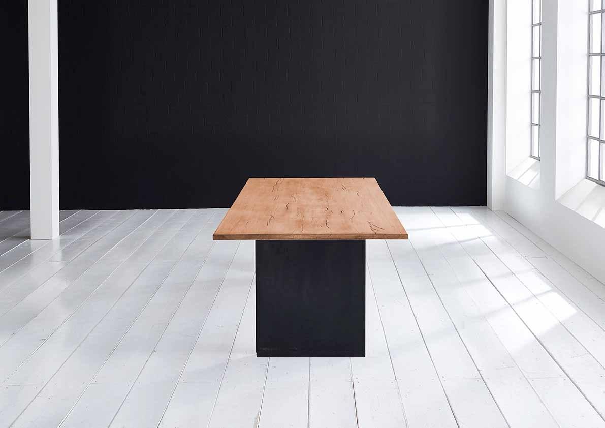 Concept 4 you plankebord - lige kant med t-ben, m. udtræk 3 cm 240 x 100 cm 06 = old bassano fra bodahl fra boboonline.dk
