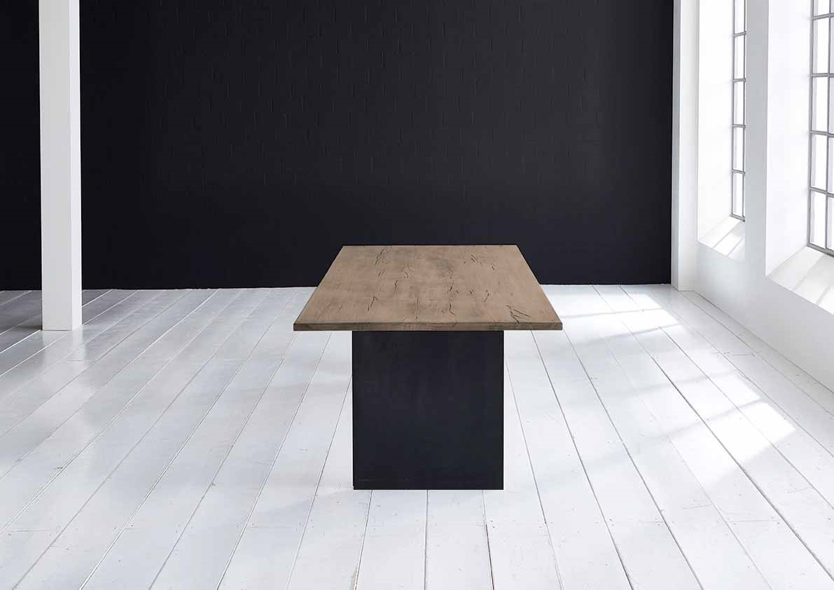 Concept 4 You Plankebord - eg m. lige kant og T-ben, m. udtræk (180-260x100-110) 3 cm 240 x 100 cm 02 = smoked