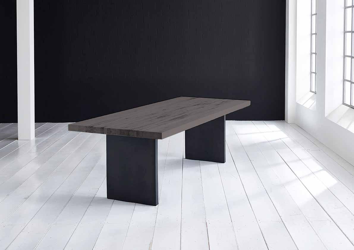 Concept 4 You Plankebord - eg m. lige kant og T-ben, m. udtræk (180-260x100-110) 6 cm 200 x 100 cm 07 = mocca black