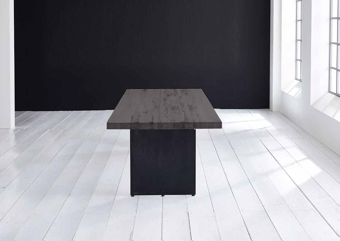 Concept 4 You plankebord - Lige kant med Line ben, m. udtræk 6 cm 200 x 100 cm 07 = mocca black