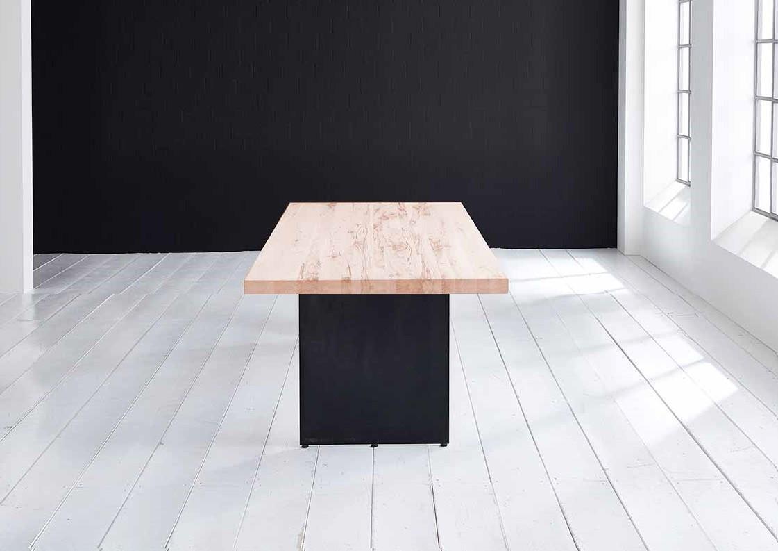 Concept 4 You plankebord - Lige kant med Line ben, m. udtræk 6 cm 200 x 100 cm 03 = white wash