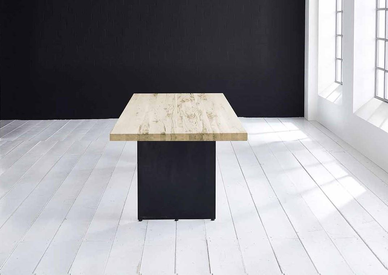 Concept 4 You plankebord - Lige kant med Line ben, m. udtræk 6 cm 300 x 100 cm 05 = sand