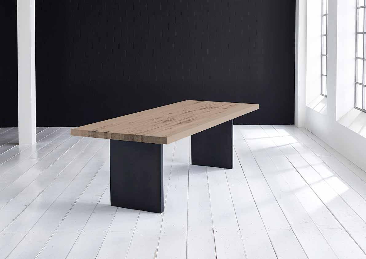 Concept 4 You Plankebord - Lige kant med T-ben, m. udtræk 6 cm 220 x 100 cm 02 = smoked