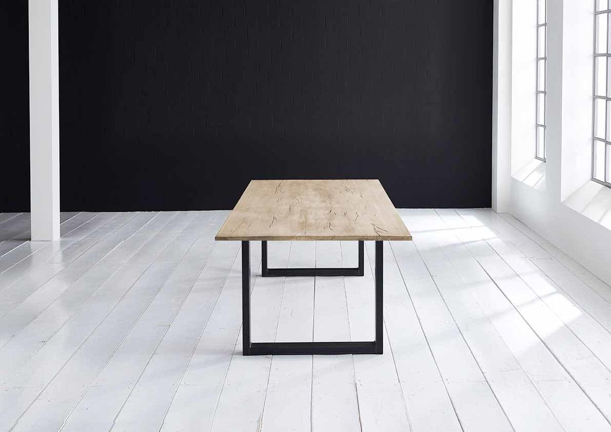 Concept 4 You plankebord - Lige kant Eg med U-ben 3 cm 180 x 100 cm 04 = desert