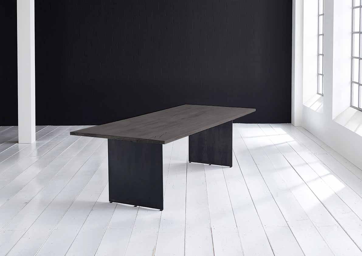 Concept 4 You plankebord - Lige kant med Line ben, m. udtræk 3 cm 240 x 100 cm 07 = mocca black