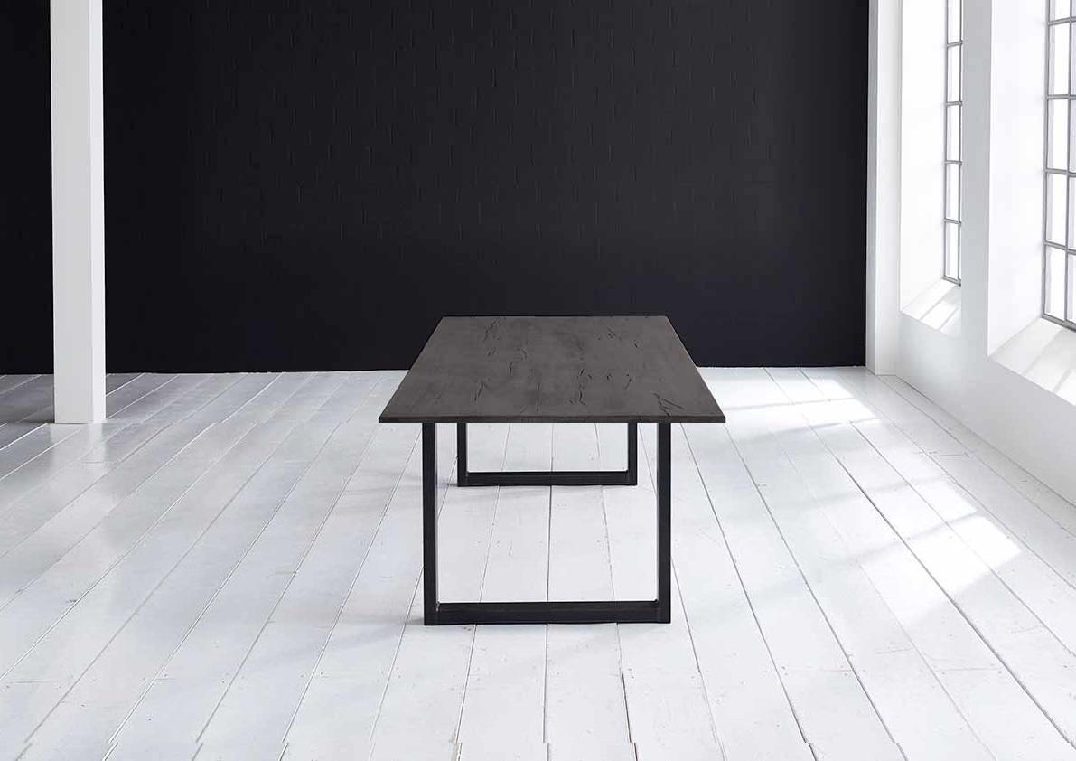 Concept 4 You plankebord - Lige kant Eg med U-ben 3 cm 180 x 100 cm 07 = mocca black