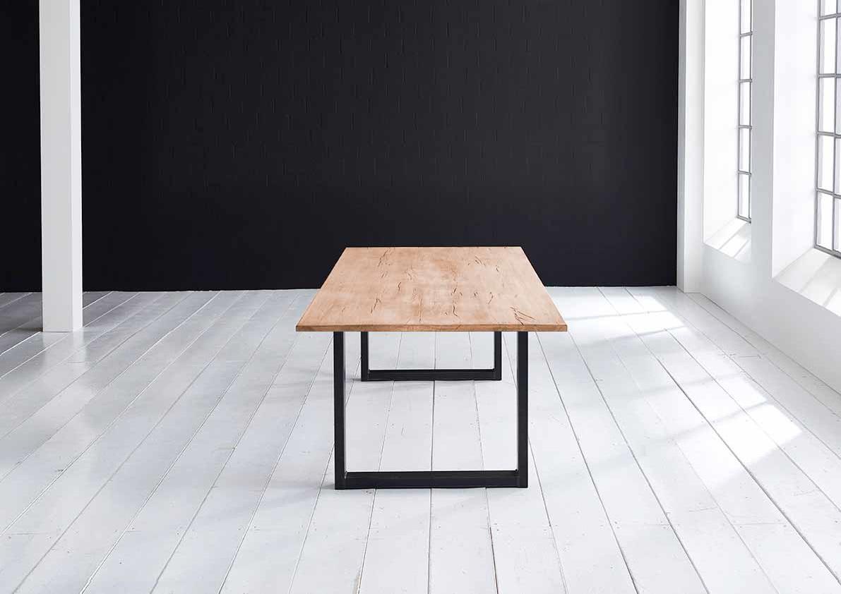 Concept 4 You plankebord - Lige kant Eg med U-ben 3 cm 180 x 100 cm 01 = olie